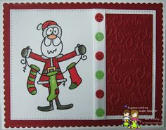 Sweet Bloomin Scraps, Santa Stockings image from Bugaboo Stamps