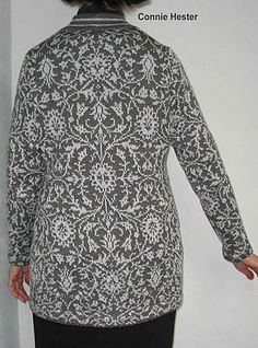 for the chart - for a throw    Ravelry: Damask Knit Coat pattern by Connie Hester