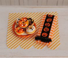 halloween miniatures | Miniature Halloween Donuts With Sprinkles And A Halloween Kitchen ...