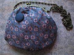Bolso flores azul