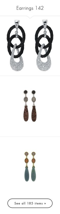 """""""Earrings 142"""" by singlemom ❤ liked on Polyvore featuring jewelry, earrings, jewelry sets, pave diamond earrings, diamond hoop earrings, 18k diamond earrings, white hoop earrings, celtic earrings, brass and clothing & accessories"""