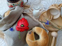 Embroidered poppy seed, my favourite flower