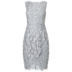 BuyPrecis Petite Ayda Lace Shift Dress, Grey, 6 Online at johnlewis.com