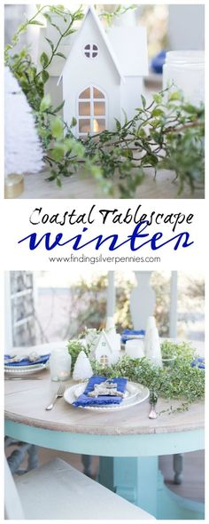 Coastal Winter Tablescape I Finding Silver Pennies #sponsored