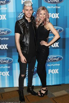 Seeing the last of the mohican:Colton Dixon was wearing an appropriate hairstyle as he po...