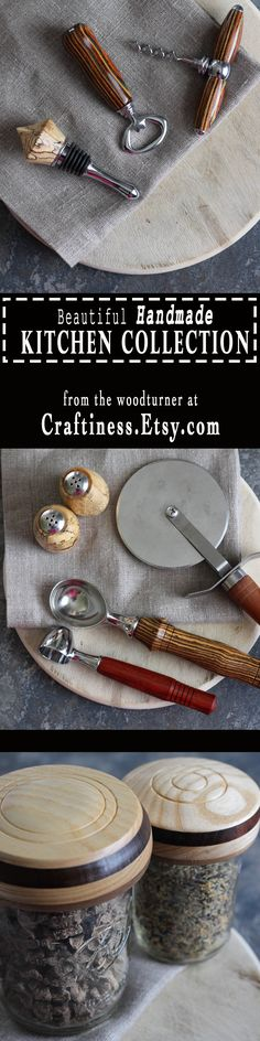 Beautiful kitchen gadgets for the passionate cook.  Spoil yourself with handmade, artisanal kitchen art made of wood by a skilled craftsman from Utah.