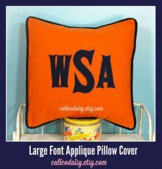 Applique Monogram Pillow Cover #home decor #boys