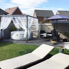 Lay-Z-Spa – the perfect centre piece for any garden ❤️ recover deleted photos android 2020 Hot Tub Gazebo, Hot Tub Garden, Hot Tub Backyard, Cozy Backyard, Jacuzzi, Outdoor Spa, Outdoor Living, Lazy Spa, Decks