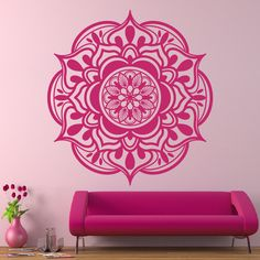 $16.99. Avail lilac. Mandala Bohemian Art Design Indian Pattern Yoga Wall Decals Floral Vinyl Stickers Interior Ornament Mural Home Decor Bedroom Removable AR402 by DecalHouse on Etsy https://www.etsy.com/listing/471087395/mandala-bohemian-art-design-indian
