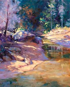 Julie Gilbert Pollard - Deep in West Fork  #watercolor jd