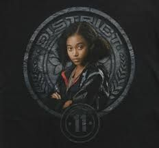 Rue; the young girl from District 11.