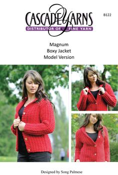 Boxy Jacket in Cascade Magnum - B122