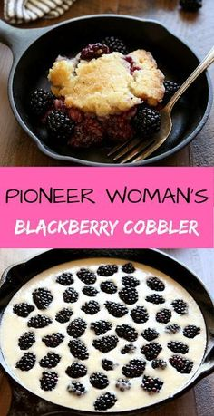 This unique and delicious blackberry cobbler requires just a few minutes of prep and yields a summer dessert everyone is sure to love. Argula Recipes, Kabasa Recipes, Coliflower Recipes, Food Network Recipes, Sweet Recipes, Cooking Recipes, Recipes Dinner, Healthy Recipes, Cocktail Recipes