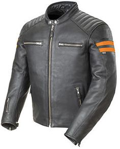"""joe rocket clasico 92 para hombre negro naranja hd cuero chaqueta motociclista vintage lg - Categoria: Avisos Clasificados Gratis  Estado del Producto: New with tagsJoe Rocket Classic 92' Motorcycle JacketTop stitched 10 to 12mm drum dyed cowhide, specifically tailored for a relaxed fitPockets for optional armor at the shoulders, elbows & back Zipin quilted full sleeve liner2 inside utility pockets4 outside pocketsAdjustable neoprenelined mandarin collarAdjustable waist and cuffs15"""""""" Storm…"""