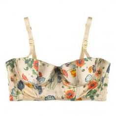 Fancy florals bustier top. It's the closest thing to freedom one will ever experience in the realm of fashion!
