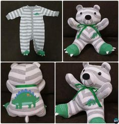 DIY Baby Onesie Memory Bear Keepsake Tutorial Free Pattern