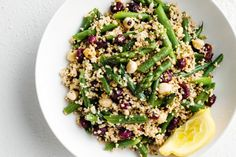 Dried cranberries add a tart sweetness and a good dose of dietary fibre to this tasty side salad.