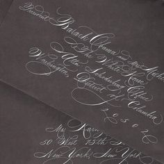 Spencerian Calligraphy for Invitation Addressing. $2.75, via Etsy.