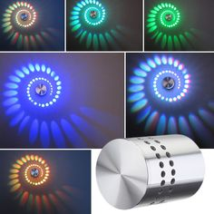 LED RGB 3W Wandlampe Wandleuchte Effektlicht Flurlampe Deckenlampe Deckenleuchte