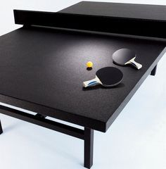(Only a few ppl know I'm randomly awesome at Ping Pong! Love it) Ping-Pong Table - Black Table Tennis Set, Fantasy Gifts, Black Table, Green Table, Ping Pong Table, Pool Table, Game Design, Game Room, Neiman Marcus