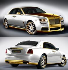 For the ultimate snob: the Fenice Rolls Royce Ghost 'Diva' Has Lots Of 24k Gold.