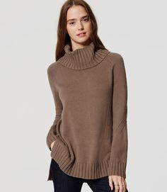 Image of Petite Cowl Sweater Tunic Petite Sweaters, Tunic Sweater, Work Wear, Cowl, Turtle Neck, My Style, Clothes, Stitch, Image