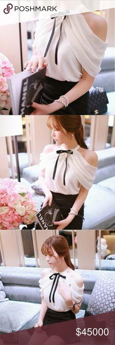 💖COMING SOON💖Chiffon cold shoulder blouse Soft pink cold shoulder blouse. Perfect for any occasion and the upcoming holidays! Tops Blouses