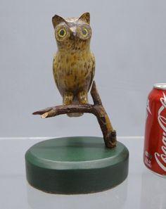 LOT #44a - Folk Art Owl Carving