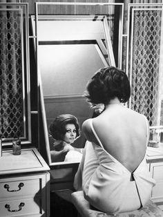 Sophia Loren at Dressing Table