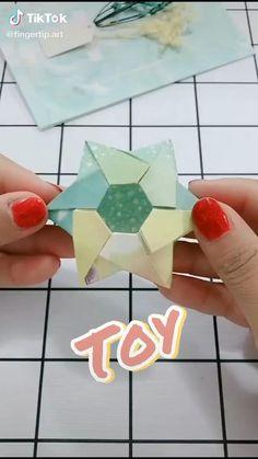 Origami Toys, Instruções Origami, Origami And Kirigami, Paper Crafts Origami, Modular Origami, Oragami, 3d Paper, Geometric Origami, Origami Star Box