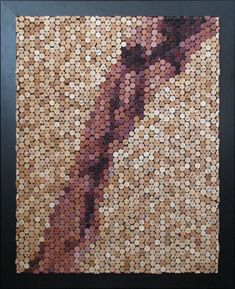 Cork Art Mosaic Pour by MarksWineCorkArt on Etsy