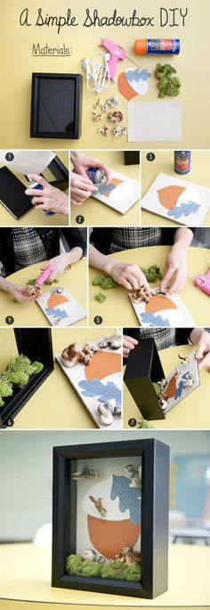 Show off your wares with a simple Shadowbox DIY!