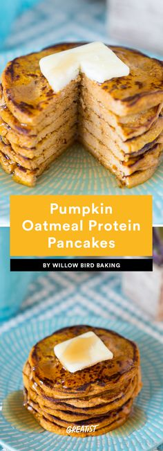 2. Pumpkin Oatmeal Protein Pancakes #healthy #pancake #recipes https://greatist.com/eat/protein-pancake-recipes