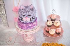 Kitty Cat Themed Party  | CatchMyParty.com and like OMG! get some yourself some pawtastic adorable cat shirts, cat socks, and other cat apparel by tapping the pin!