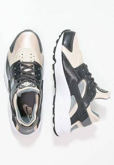 separation shoes 06ed5 3baf4 Nike Sportswear AIR HUARACHE RUN - Sneaker low - anthracite oatmeal cool  grey black white - Zalando.
