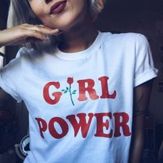 Girl Power Shirt - Womens Shirts, Unisex Tees, Feminist Feminism Shirt Rose Tees Flowers Plants Roses Strength Girls Female Tops by TheTeeStudio on Etsy https://www.etsy.com/listing/503876977/girl-power-shirt-womens-shirts-unisex