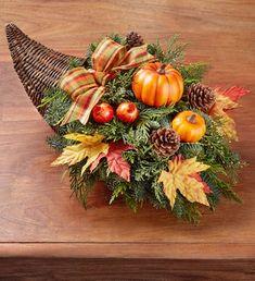 Thanksgiving Traditions Cornucopia Small Plant