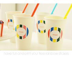 print rainbow stickers in polish or english Rainbow Cupcakes, Free Printables, Have Fun, Polish, Stickers, Mugs, Tableware, Vitreous Enamel, Dinnerware