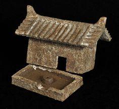 """Tadashi Ito,  Quintessence No. 18 Ceramic incense burner   5"""" x 3.5"""" x 4""""h"""