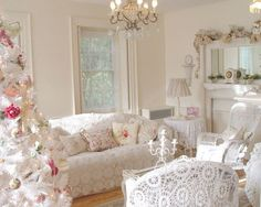 Shabby Chic Living Room | Janet's by Shabbyfufu french style living room.