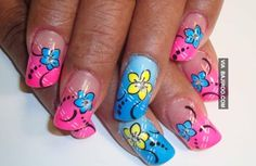 23 Amazing flower nail art designs