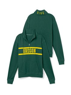 Yes please, for any occasion :) #goducks University of Oregon Boyfriend Half Zip PINK