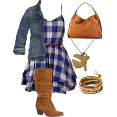 Country style -- I like that dress :)