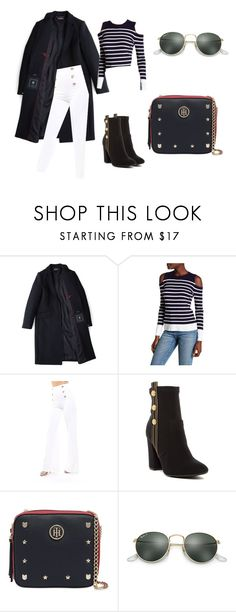 """nautical outfit"" by ingridlove593 on Polyvore featuring moda, Tommy Hilfiger e Ray-Ban"