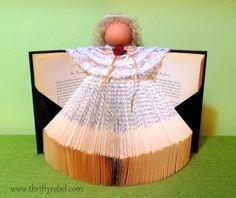 book angel using a thrifted book /http://www.hometalk.com/5694563/how-to-make-a-book-angel.