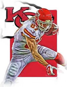 Travis Kelce Kansas City Chiefs Oil Art Art Print by Joe Hamilton. All prints are professionally printed, packaged, and shipped within 3 - 4 business days. Kansas City Chiefs Football, Football Art, Kansas City Royals, The Chiefs, Pittsburgh Steelers, Dallas Cowboys, Giants Baseball, Indianapolis Colts, Cincinnati Reds
