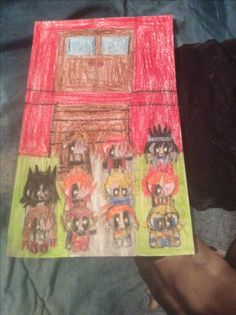 The Awesome Family sitting in front of their house by Kaylee Alexis Family Drawing, Family First, 5 Year Olds, People Art, Have Fun, Drop, Cool Stuff, Drawings, Awesome