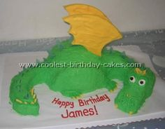 Take a look at the coolest homemade Dragon cake photos. You'll also find loads of homemade cake ideas and DIY birthday cake inspiration. Dragon Birthday Cakes, Dragon Birthday Parties, Diy Birthday Cake, Dragon Cakes, Homemade Birthday Cakes, 11th Birthday, Birthday Ideas, Petes Dragon Party, Cupcakes