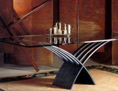 Preciosa mesa de comedor con cristal de 19 mm #comedoresmodernos