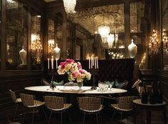 sumptuous and glamorous dining room by Fenwick Bonnell of Powell & Bonnell in Toronto